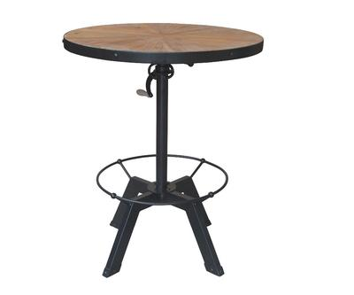 Antique Vintage Adjustable Round Industrial Bar Table HL383