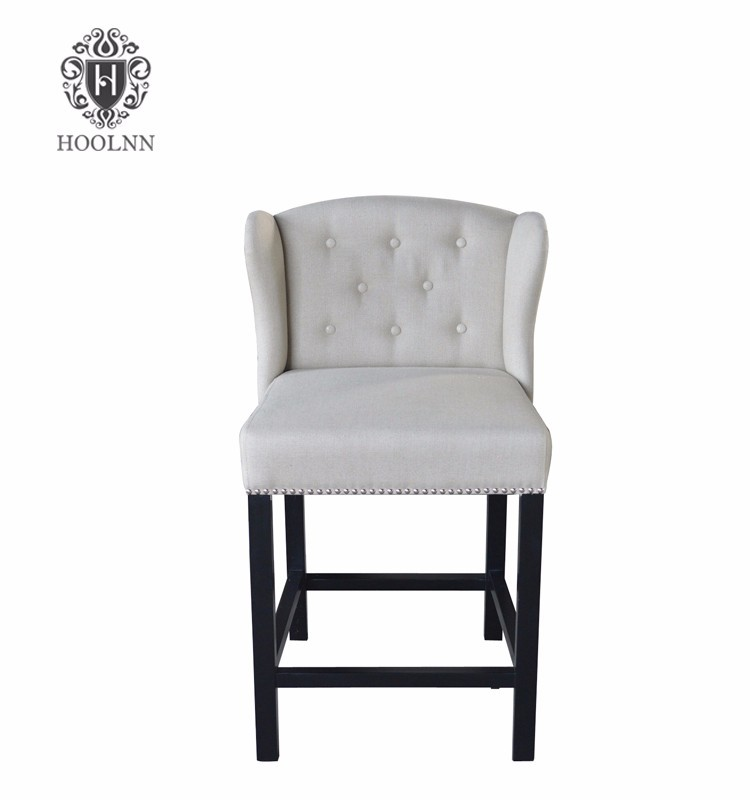 Italian Style Antique Provincial Vintage High Back White Brown Black PU Leather Dining Room Chair