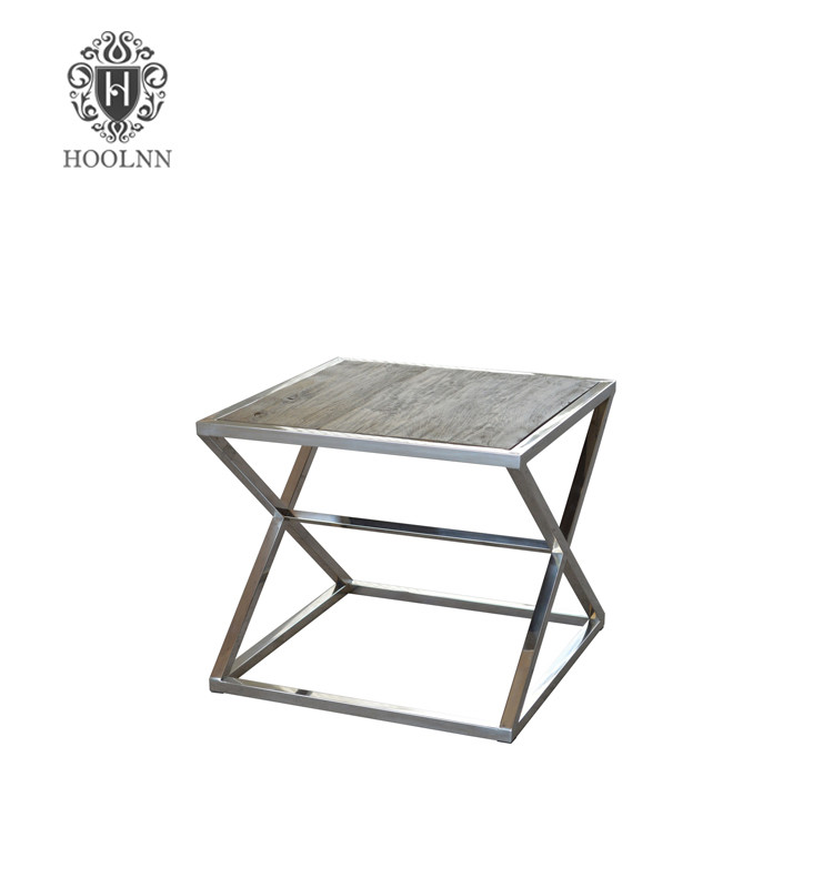 HL169 antique retro rustic vintage industrial loft cafeteria restaurant furniture metal table