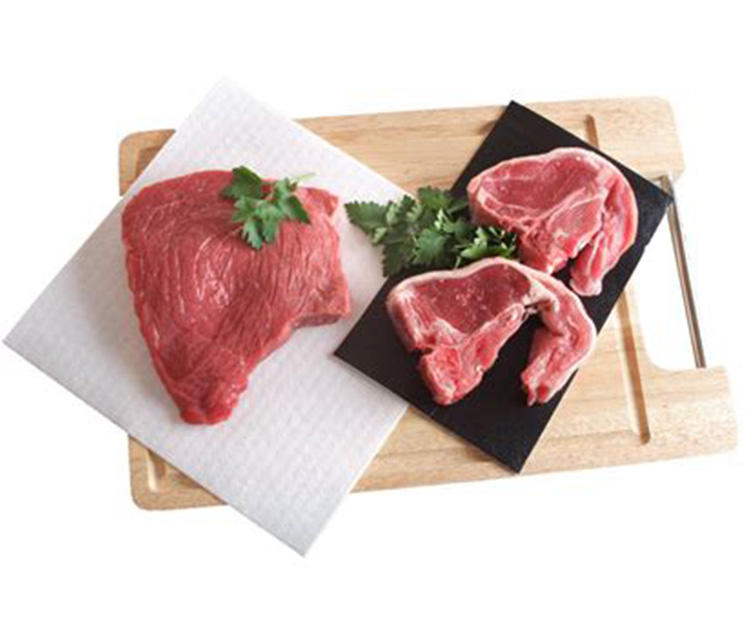 Absorbent Pad Manufacturer MacromoleculeMeat Tray Pad Water Absorbent Pad for Meat