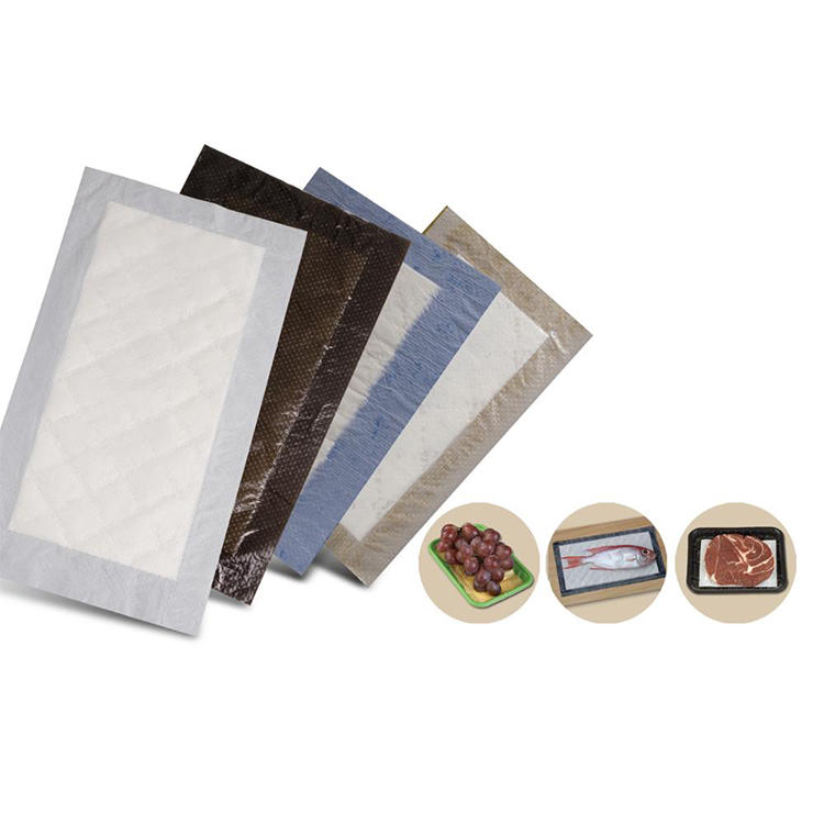 Liquid Absorbent Food Pads Water Absorbing Pads for Supermarket Tray