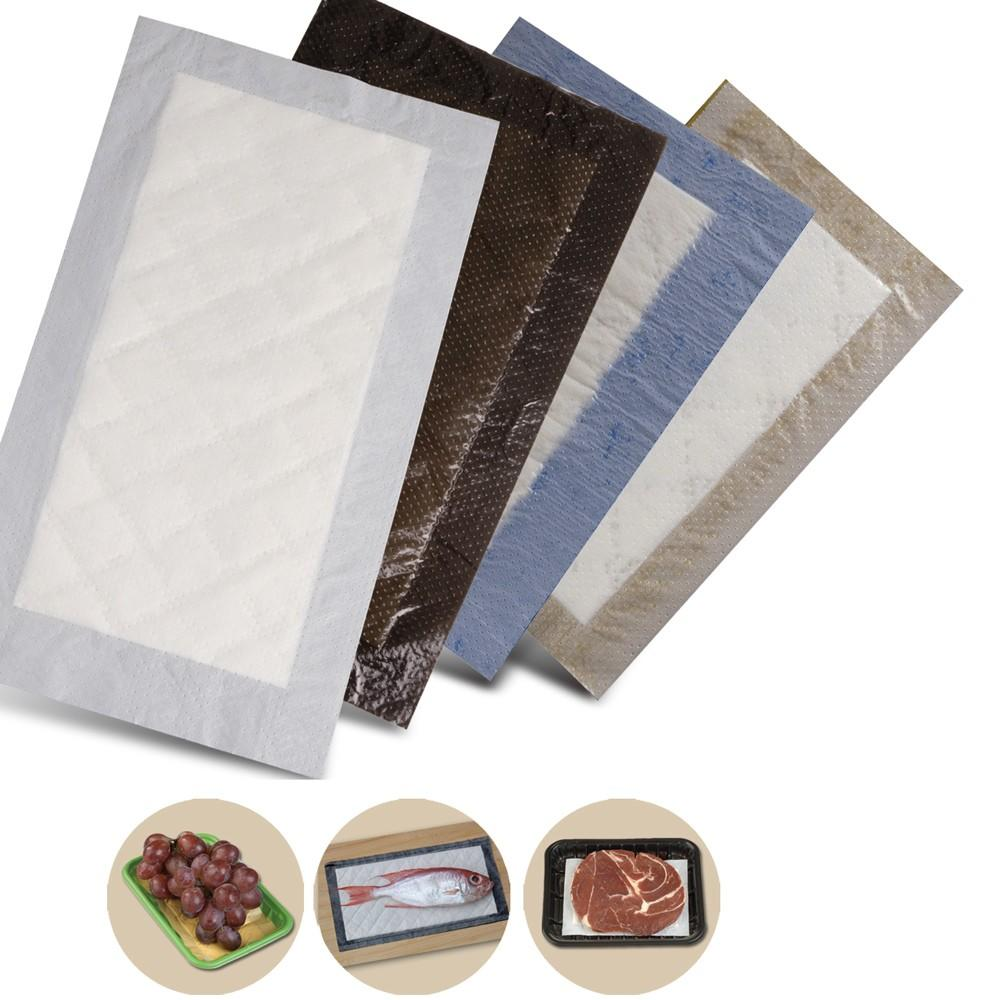 Custom Punch PE Film Absorbent Meat Pad For Package Tray