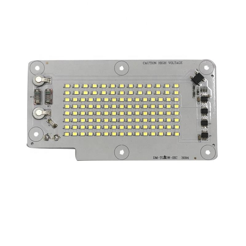 Factory Delivery 126lm/W CE RoHS Certification 220V AC DOB Driverless SMD 50W Linear LED Module PCB Board for LED Floodlight