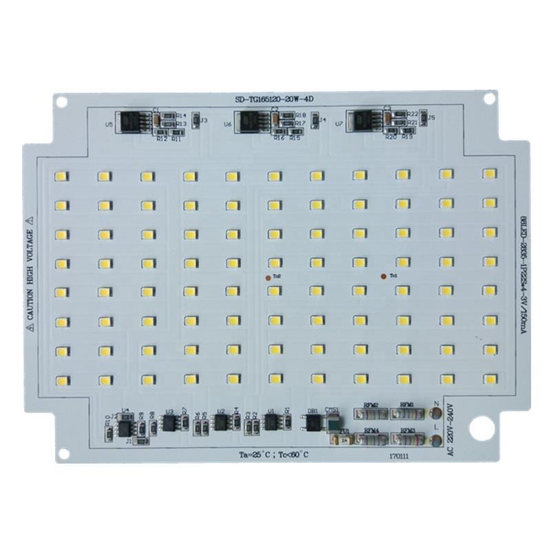 Anti-Surge Class 4KV High quality 20W Ra 81 CE RoHS certification 220V AC pcb input led module for LED Floodlight