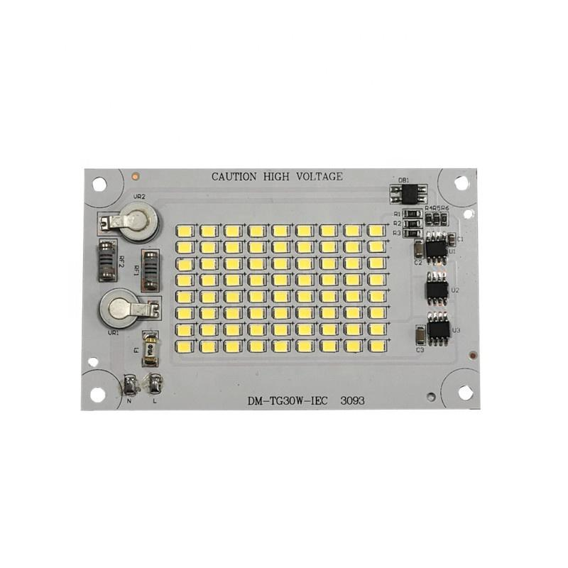 Factory Delivery 126lm/W CE CB Certification 220V AC DOB Driverless SMD 30W Linear LED Module PCB Board for LED Floodlight