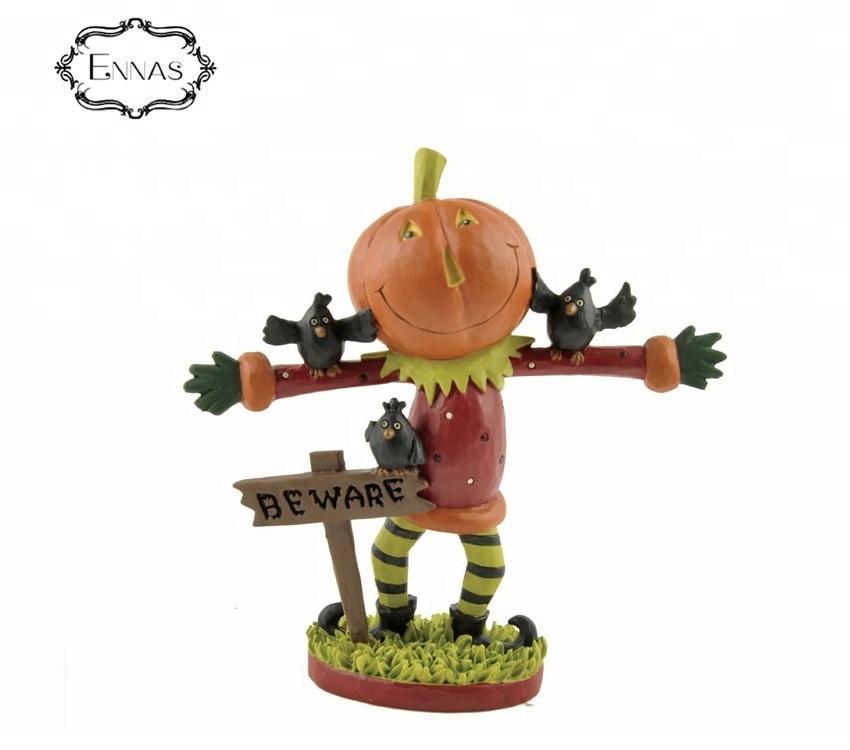 Halloween special decorations 3D Mini Pumpkin Man Fashion creative making resin sculpture