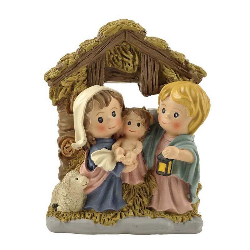 Polyresin cartoon religious manger family baby Jesus Manger statues