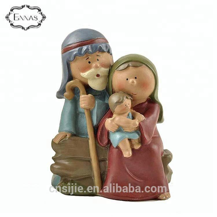 Religious Holy Family Nativity Resin Arts Craft for Decoration