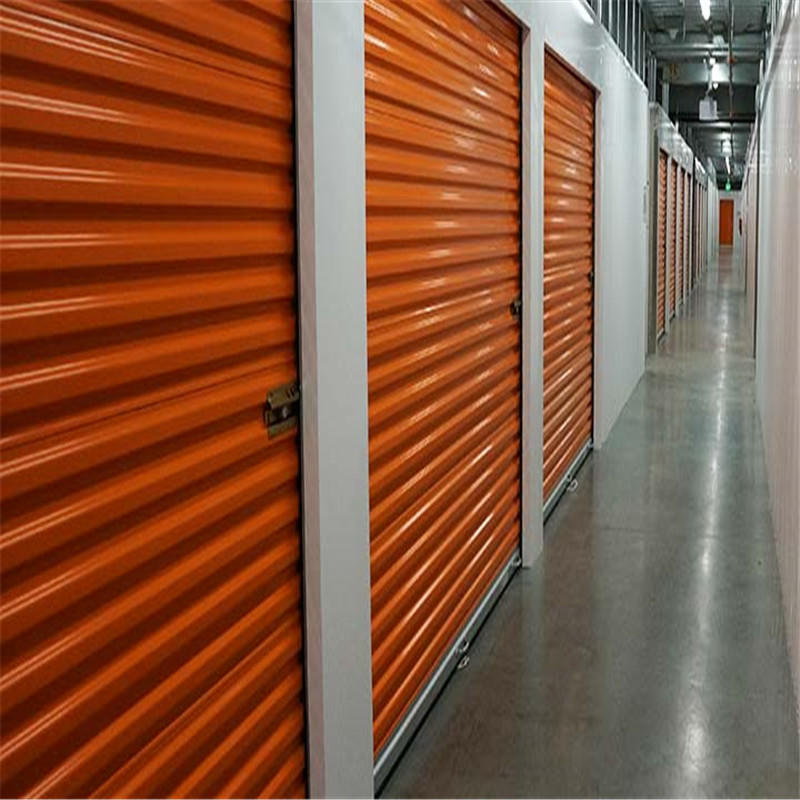 8*7 feet manual self storage door cold storage room door used roll up door ready to ship