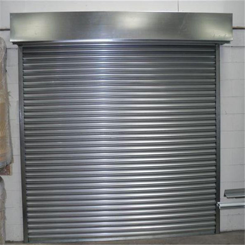 3W*2.2H MeterDurable Anti-Oxidation 0.5mm Profile Thickness Stainless Steel 201 Rolling Shutter Door With Motor