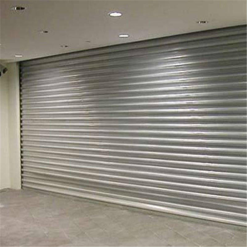 3W*2.2H Meter Vertical Electric 1.0mm Profile Thickness Stainless Steel 201 Security Roll up Shutter With Motor
