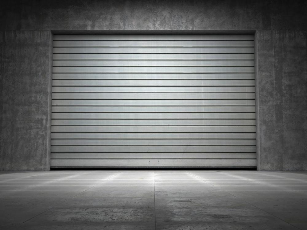 Industrial Automatic Overhand Galvanized or Stainless Steel Roller Shutter Garage Door for Warehouse or Shop