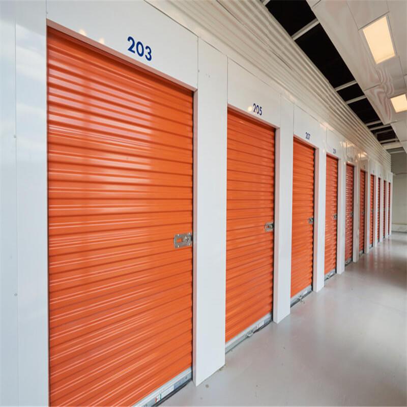 Colorful galvanized steel manual self storage door roll up door