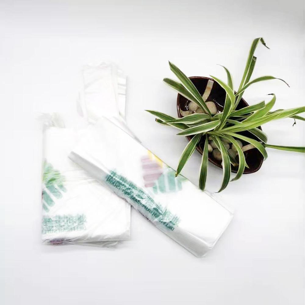 Compostable Vest Bag Biodegradable PBAT Cornstarch Plastic T Shirt Trash Bag
