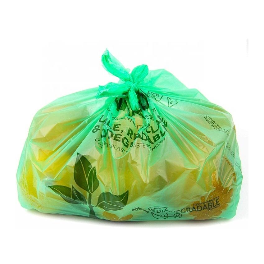 Custom Printing BPI EN 13432 100% Biodegradable Vest bag compostable T Shirt bag Eco Friendly Shopping Bag