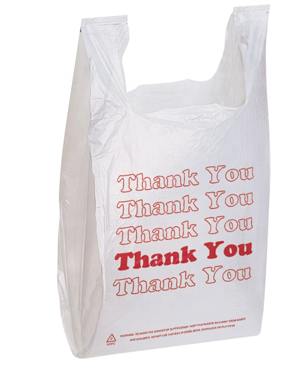 Recyclable Compostable Reusable Biodegradable Thank You Bags Standard Supermarket Size