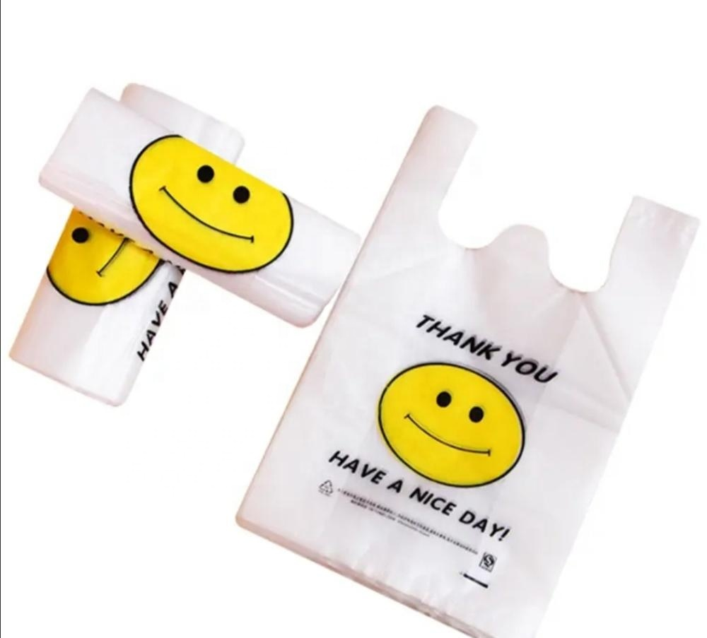Eco friendly Customized 100% Biodegradable and Compostable T-Shirt Bag Vest Bag Shopping bag