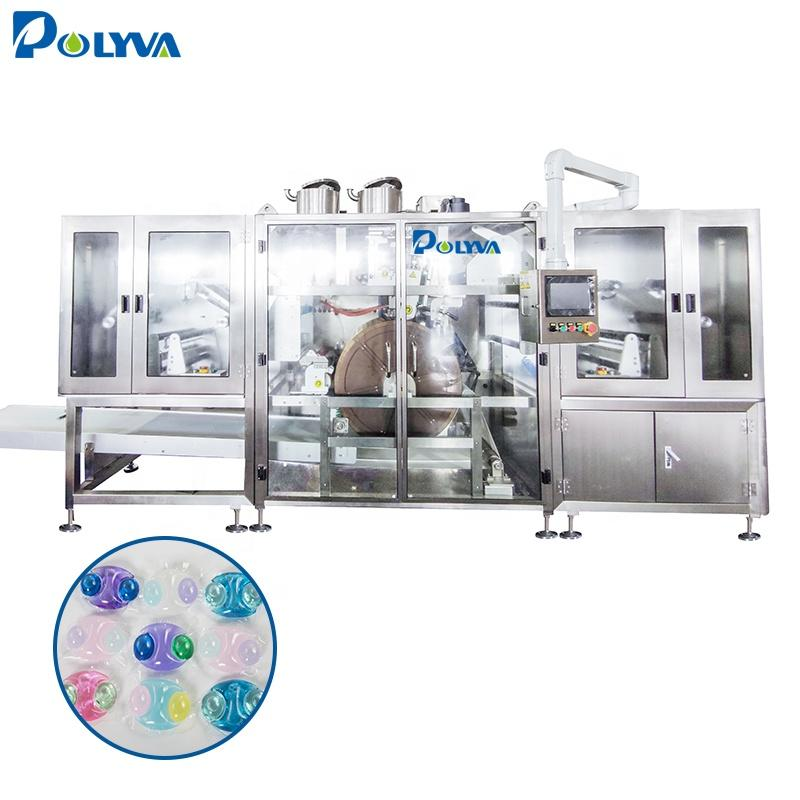 Polyva machine 30g big pods laundry detergent capsule packing machine good price laundry pods filling machine