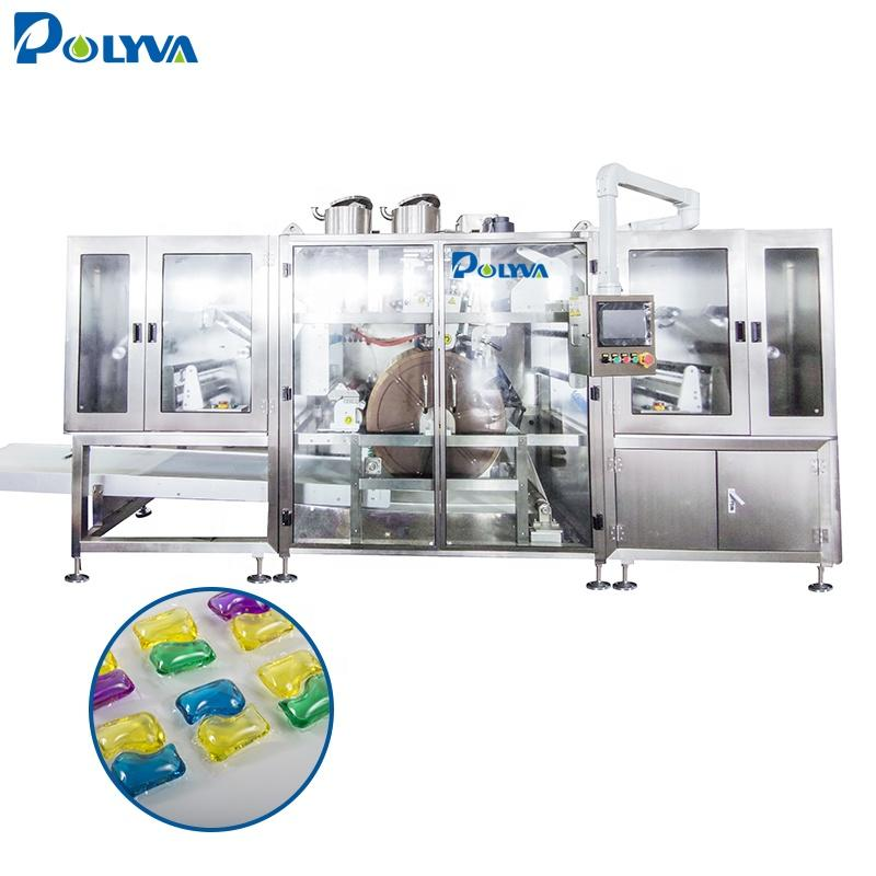 Energy saving compact design high water soluble pouch solution provider laundry detergent pods packing machine