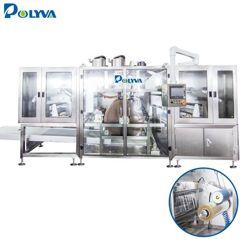 Foshan automatic high speed laundry detergent pod packing machine water soluble pva film packaging machine