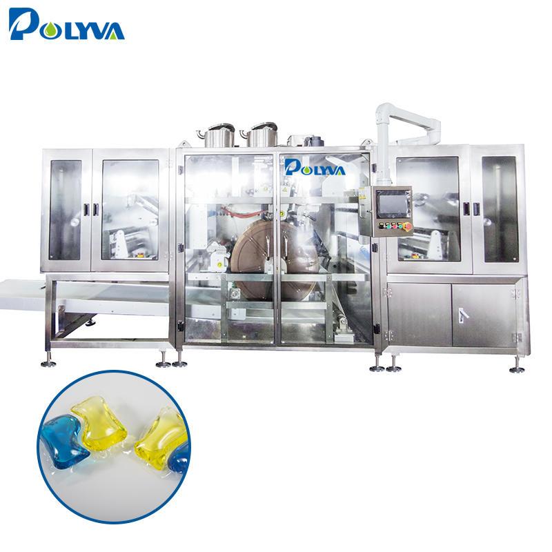 Polyva customized 5-30g laundry detergent pods packing machine water soluble washing capsules packing machine