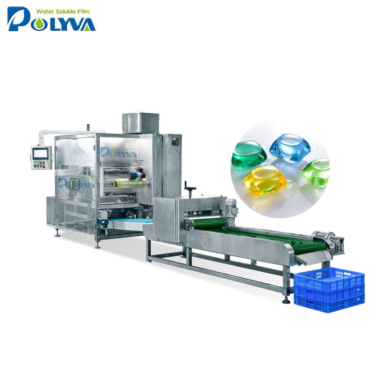 pva water soluble film packing machine for laundry detergent pods liquid and powder capsules