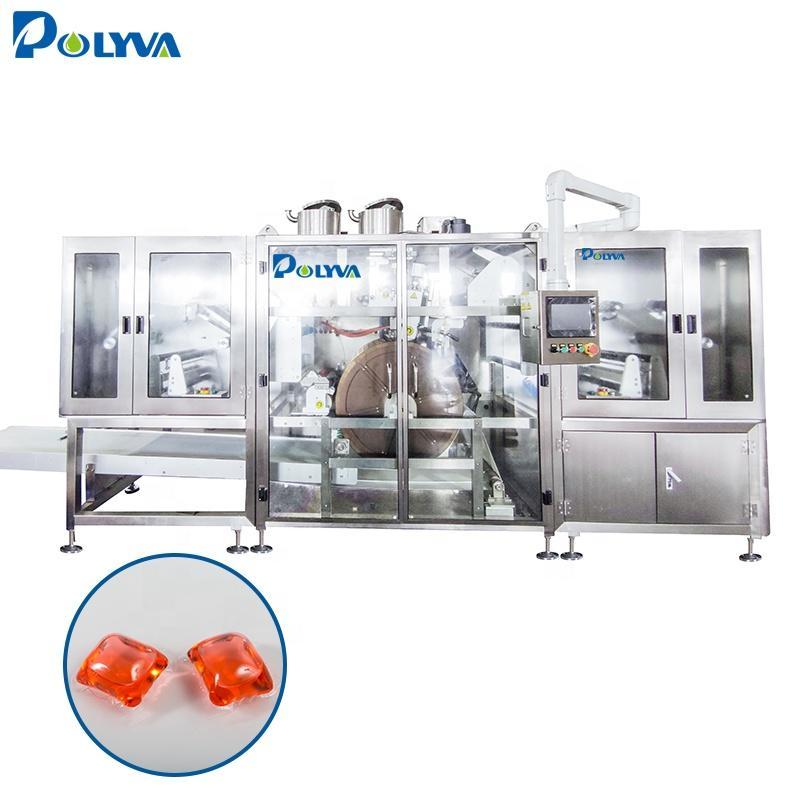 Polyva machine multi-function liquid laundry detergent capsule pods loading filling machine