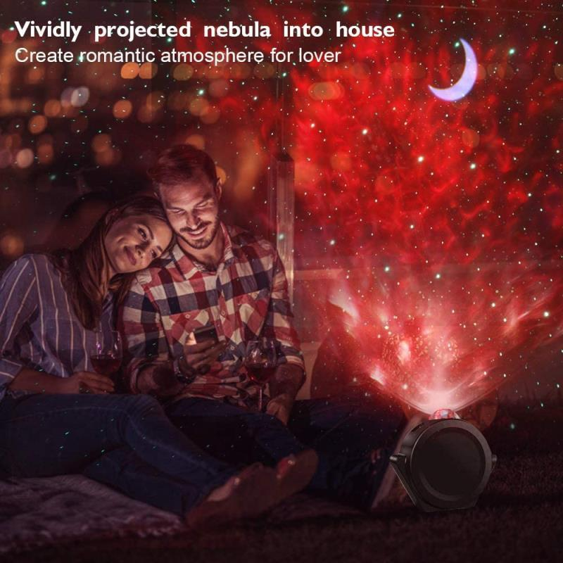 music control Starry Sky Ocean ProjectorLight lamp Colorful USB LED Moon nebula Night Light for Kids babys