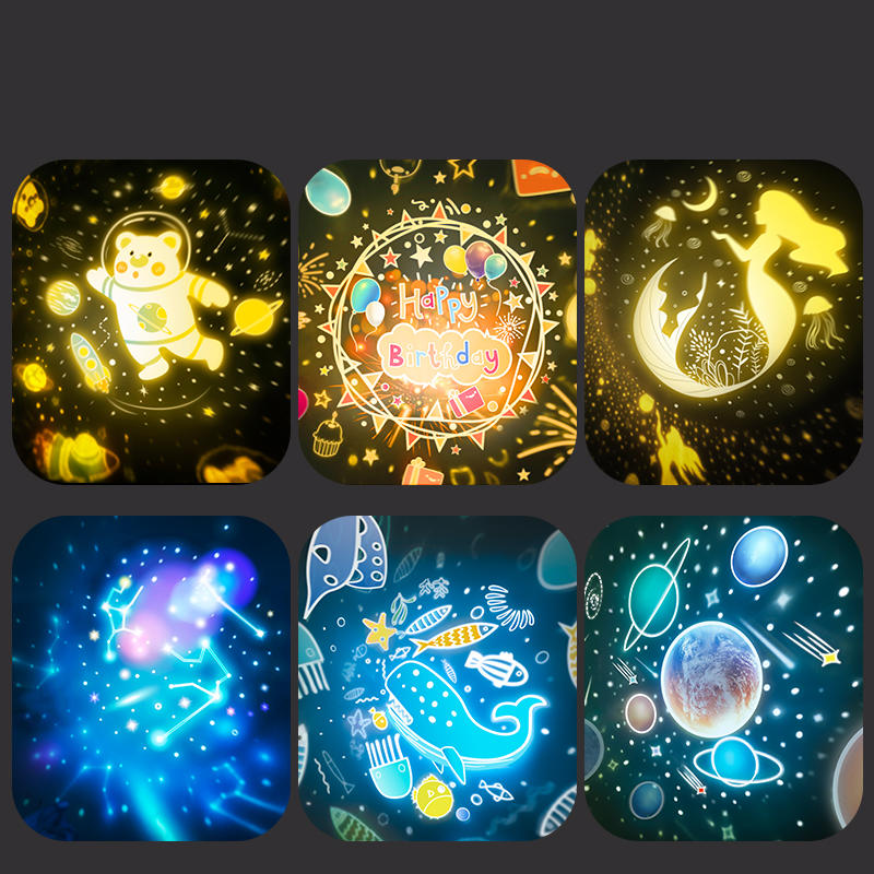 Starry Sky Light Projector Multi-color changing Night Light 360 Degree Rotating Bedroom for Kids/ Children gift
