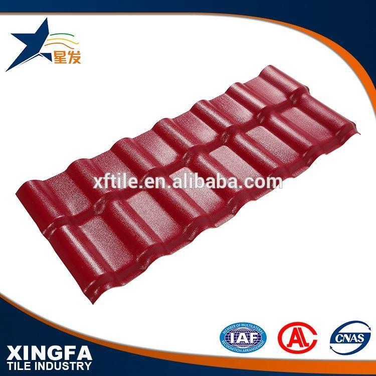 Rapid installation spanish style synthetic resin tile roofing