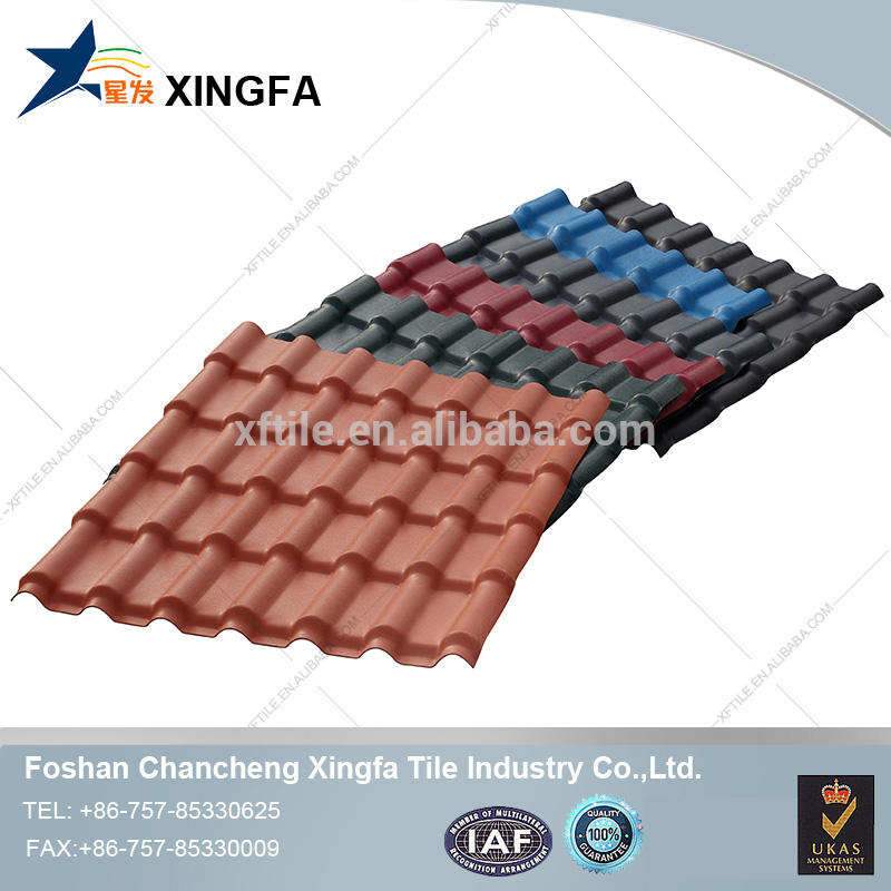 Top selling corrosion resistant building material asa resin roof tiles