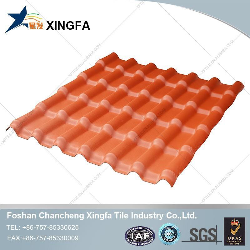 bungalow design heat insulation materials plastic roofing tiles pvc