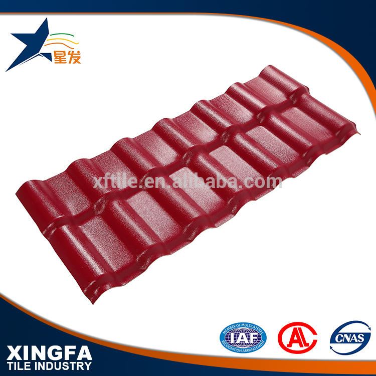 China build materials asa resin roof panel/ color corrugated plastic sheet synthetic resin roof tile