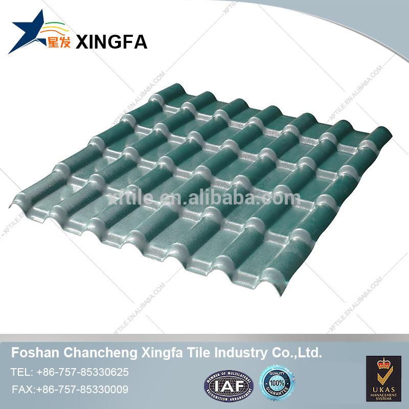 Synthetic resin /spanish/pvc plastic roof tile for residential house