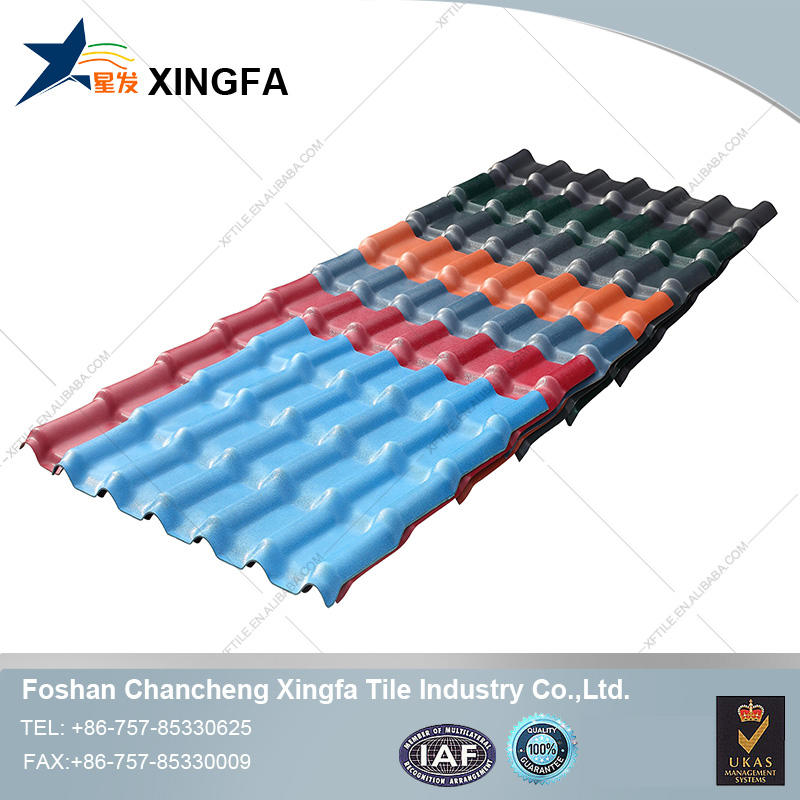 Waterproofing ceiling synthetic resin pvc plastic roofing tile for wholesales