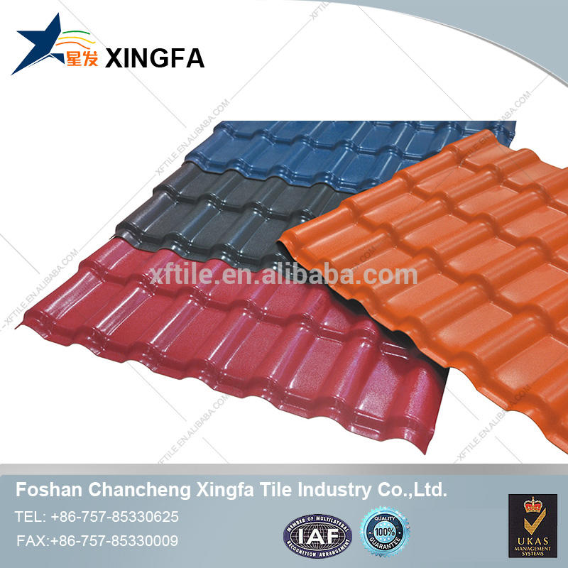 High quality spanish ASA&PVC synthetic resin roof tile/roof sheet/anticorrosive roof tile