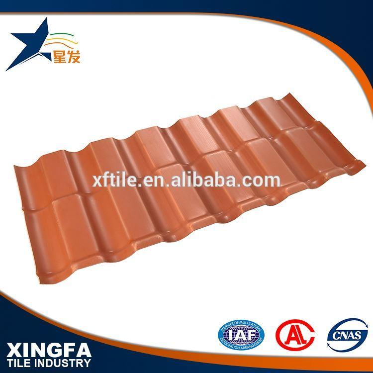 Excellent heat insulation performance roma style asa synthetic resin roof tile100% synthetic resin pvc roof sheet