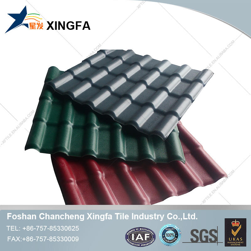 plastic shingle roof/shingle tiles/pvc resin roofing tiles