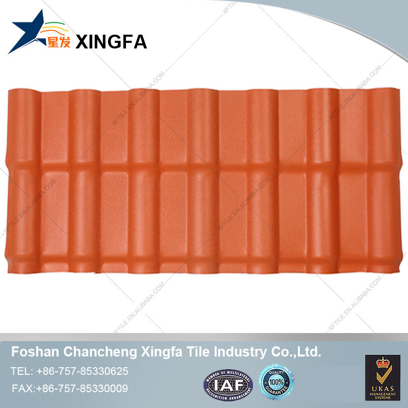 Hot sale waterproofing synthetic resin pvc plastic roof tile plastic