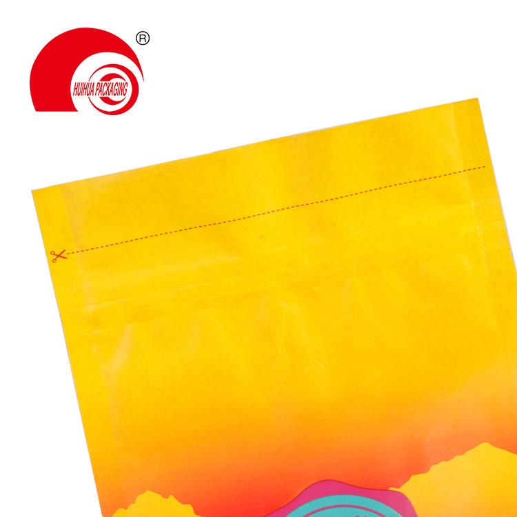 product-Wholesale 250g 500g 1kg Custom Printed Flat Bottom Kraft Paper Zipper Packaging Pouch-Huihua-1