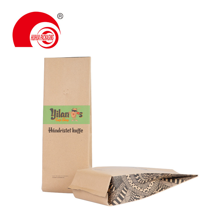 High Quality Custom Printing Laminated Plastic Vacuum Kraft Paper Side Gusset Pouch