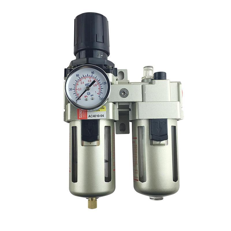 AC Series Source Treatment AC4010-04 FRL Filter Regulator Lubricator Combination