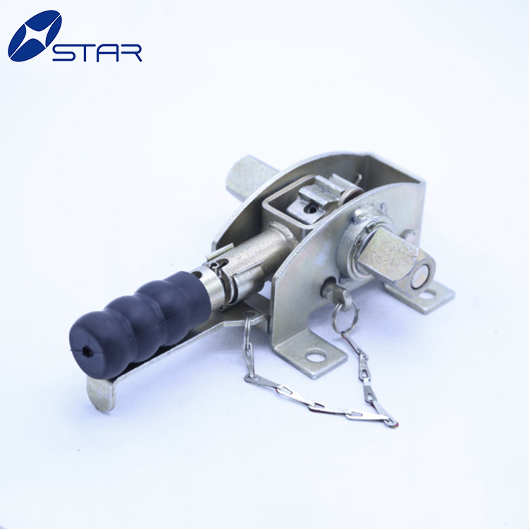Trailer curtain side strapping ratchet tensioner