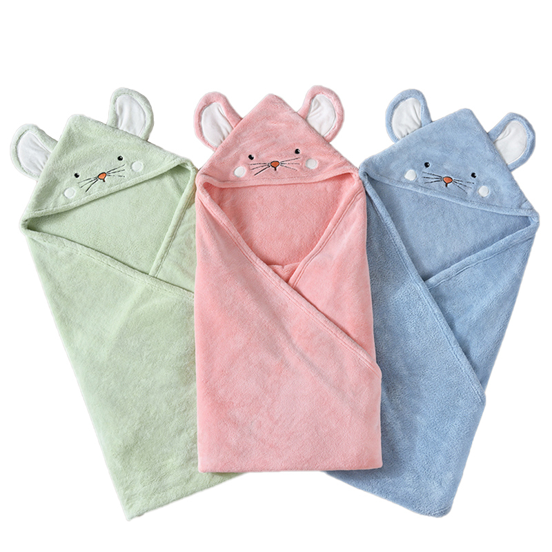 Factory Price Flannel Hooded Baby Towel with Soft Hand Feeling