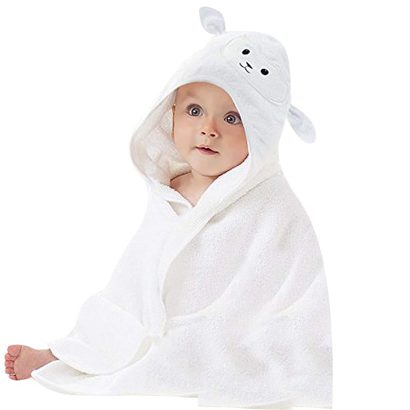 Soft 300gsm Bamboo Hooded Baby Kids Towel with Bear Ear
