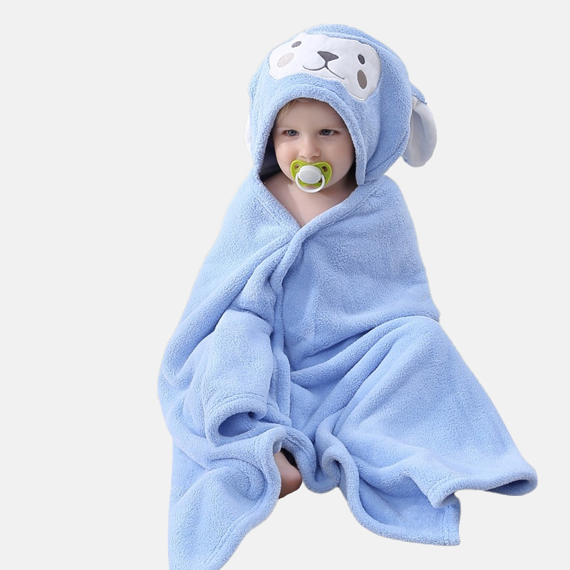 Factory Price Flannel  Hooded Baby Towel