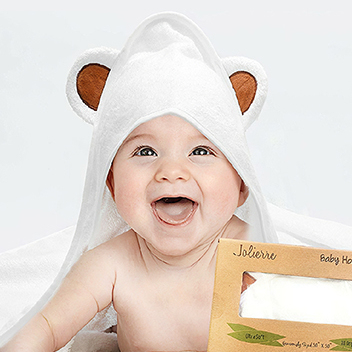 Factory Price Organic Bamboo Hooded Baby Towel with High Quality