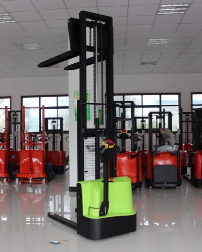 Electric forklift 1500kg battery operated pallet stacker with optional lifting height