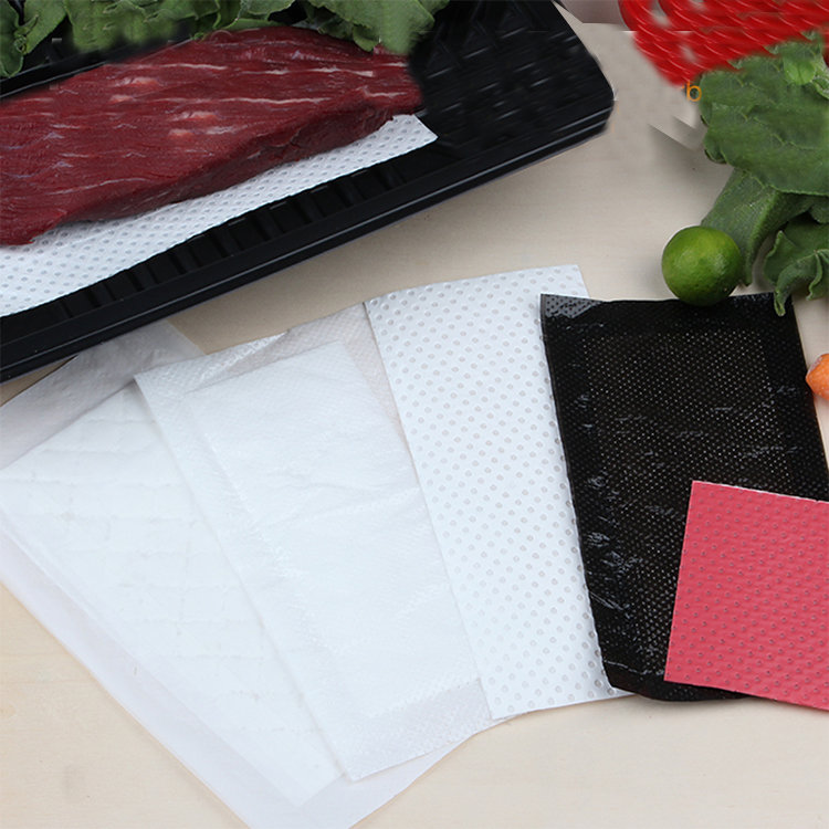 Macromolecule PE non-woven fabric seafood absorbent pad