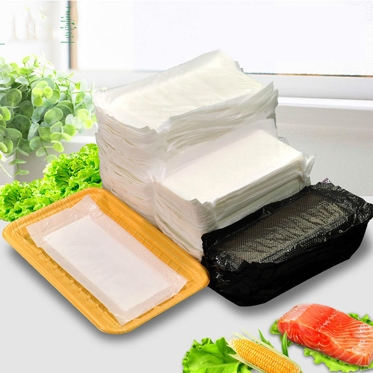 FDA,ISO9001,SGS Certification Super Food Absorbent Polymer Pad Meat Absorbent Pad for Foam Supermarket Trays